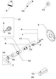 Shower Faucet Parts Replacement Delta Faucet 134900 Parts List And Diagram Ereplacementparts Com
