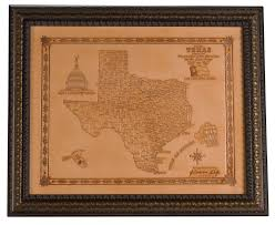 leather map glenderson s leather wall decor products