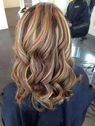 short brown hair with blonde highlights warm chocolate brown base with golden blonde highlights
