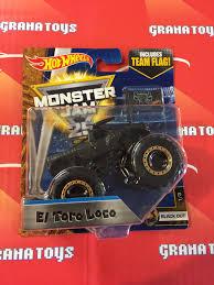 monster jam trucks toys el toro loco black out 1 3 2017 wheels monster jam case b