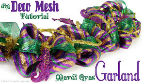 mardi gras mesh party ideas by mardi gras outlet mardi gras garland tutorial
