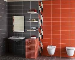 Modern Wall Tiles In Red Colors Creating Stunning Bathroom Design - Bathroom tile design