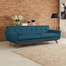 Denim Furniture Living Rooms Montreal Indoor Brick Wall Living Room Modern With Blue Couch
