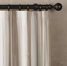 White Taffeta Curtains Silk Taffeta Multistripe Drapery