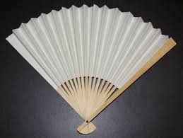 wooden fans colour or decorate your own paper wood fan the childminding shop