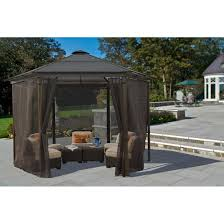 amazon com stc gz506d carolina gazebo with netting patio lawn