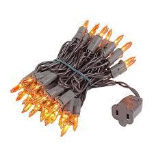 brown cord mini lights amber christmas mini lights set 50 light brown wire 11 feet