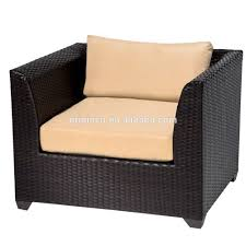 Used Wicker Patio Furniture Sets - villa hotel outdoor friends gathering sofa with ottoman footrest