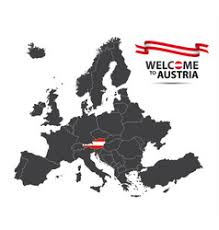 austria map vector map of europe with highlighted austria royalty free vector