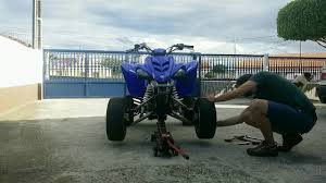 front wheel spacers yamaha raptor 350r youtube