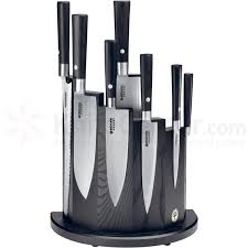 boker magnetic kitchen knife block black knifecenter 030400