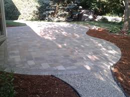 paver patio edging exterior design beautiful outdoor kitchen and paver patio using
