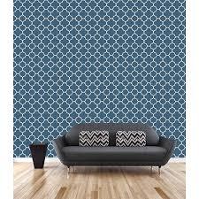 blue quatrefoil wallpaper 2625 21855 blue quatrefoil origin symetrie wallpaper by a