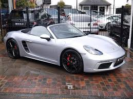 used 2016 porsche 718 boxster 2 5 s convertible pdk 2dr start