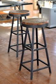 Saddle Seat Bar Stool Furniture White Saddle Bar Stools Metal With Wood Seat Ikea