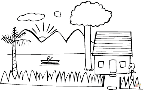 summer house on the lake coloring page free printable coloring pages