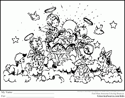 download coloring pages christian christmas coloring page
