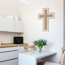 simple cross wall decal