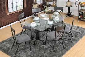 industrial glass dining table industrial fire hydrant themed metal glass dining table set cm3366t
