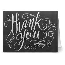 amazon com chalkboard thank you 36 note cards 6 designs