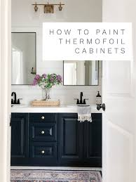 can white laminate cabinets be painted how to paint thermofoil cabinets a thoughtful place