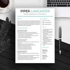 creative resume template resume for word by landeddesignstudio