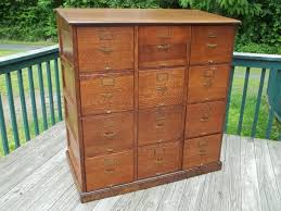 Vintage Oak Filing Cabinet Furniture Antique Oak Mobile File Cabinets Antique Industrial