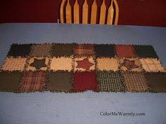Primitive Table Runners by Primitive Homespun Rag Table Runner For Fall By Quiltedbytommyd