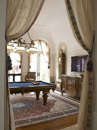 elegant game room with pool table and drapes ideas for the house