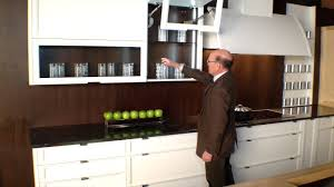 Bifold Kitchen Cabinet Doors Rutt Cabinetry With Power Open Blum Aventos Hf Bi Fold Doors Demo