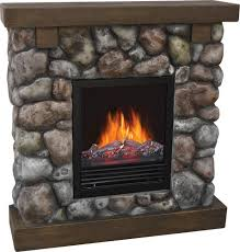 Menards Electric Fireplace Astonishing Design Rock Electric Fireplace Decorflame Rustic At