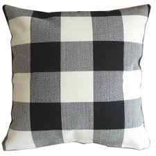 amazon com black white checkers plaids throw pillow case sham