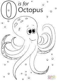 octopus coloring page o is for octopus coloring page free