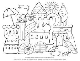 sandcastle coloring page wallpaper download cucumberpress com