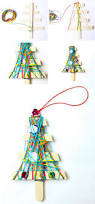homemade christmas ornaments yarn trees babble dabble do