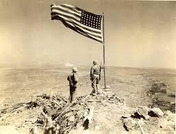 American Battle Flag Raised Flag On Mount Suribachi 1945 U2013 History By Zim