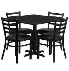 Cafeteria Breakroom Square Dining Table SetsRestaurant TablesChairs