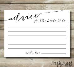advice cards for description instant bridal shower advice cards for the