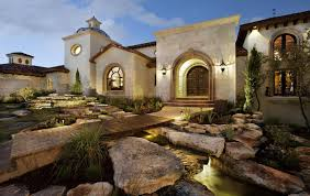 amazing spanish mediterranean house design with impressive stone