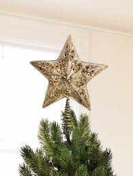 ideas silver and gold beaded star tree topper for christmas tree