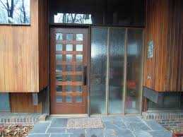 exterior design winsome wooden modern front door with clear glass