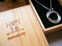 5th wedding anniversary gift wedding anniversary gift box jewelry journal