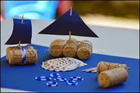decoration de bateau tuto kids des petits bateaux en liège