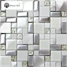 metallic kitchen backsplash white glass glitter mosaic tile metallic kitchen backsplash