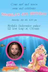 Barbie Birthday Invitation Cards 32 Best Barbie Invitations Images On Pinterest Barbie Party