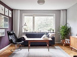 Gray And Burgundy Living Room In Colour Burgundy Charming Apartment In Sweden