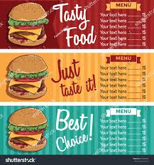 banners fast food cute background color stock vector 654445267