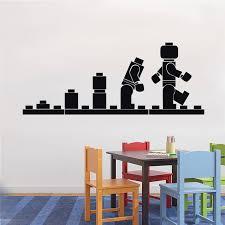 pochoir chambre enfant lego l évolution decal mur vinyle pochoir enfants chambre
