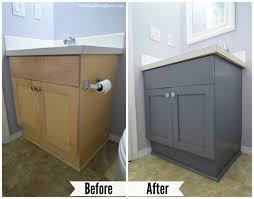 Bathroom Before And After Bathroom Painted Cabinets Before And After Ideas