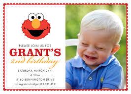 Birthday Invitation Card For 1st Birthday Elmo Birthday Invitations With Photo Free Free Invitations Ideas
